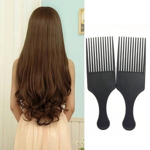 Image 4 - Belleza chica profesional nuevo Afro peine para pelo Afro rizado cepillos para el pelo salón peluquería estilismo diente largo estilismo elegir Envío Directo 3A25
