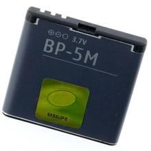 Original BP-5M phone battery for Nokia Navigator 5610 5700 6500S 7390 6220 Classic 6500 Slide 8600 Luna 6110
