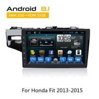 Android 6,0/8,1 головное устройство для Honda Fit 2013 2014 2015 Octa Core авто радио iPod Bluetooth МЖК AUX gps Мультимедиа без DVD плеер