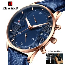 Relogio Masculino Chronograph Watch Men Luxury Brand REWARD Fashion Sport Quartz Wristwatches Leather Waterproof Business Watch carnival brand men wristwatches fashion luxury leather strap watch unique design style waterproof multifunction relogio reloj