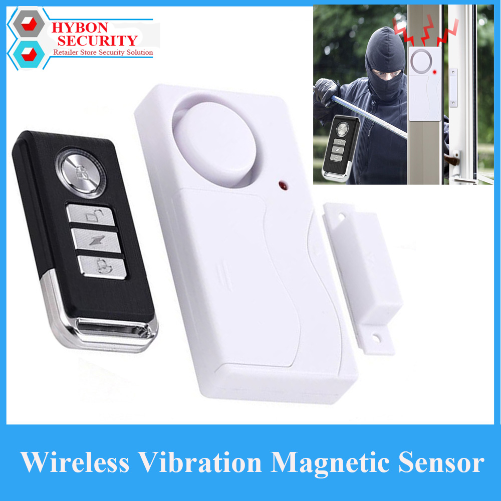 Wireless Vibration Magnetic Sensor ABS Remote Control Door Sensor Indoor Burglar Alarm System Home Siren Protection Detector