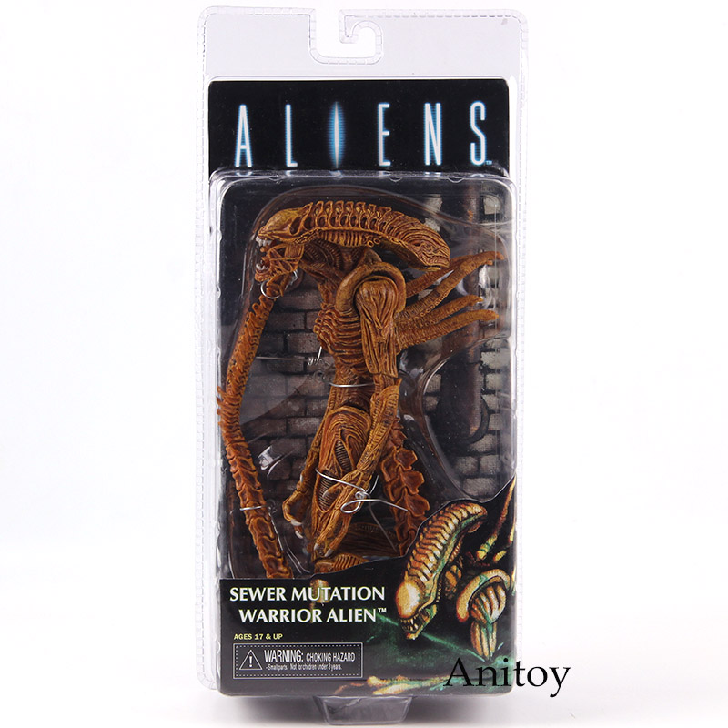 NECA Aliens Sewer Mutation Warrior Alien Action Figure PVC Collectible Model Toy