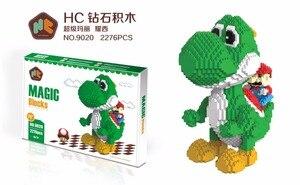 Image 4 - HC blocs magiques avec boîte dorigine grande taille blocs de construction Anime modèle briques dessin animé point figurines daction jouets enfants cadeaux