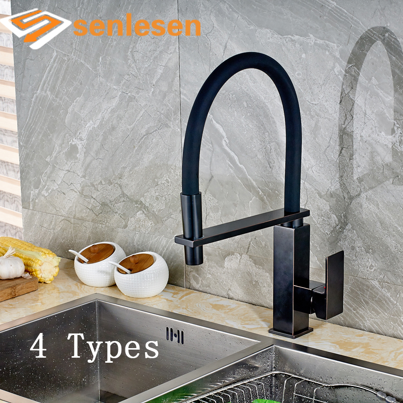 цена на Factory Retail Oil Rubbed Bronze / Brushed Nickel Kitchen Sink Mixer Faucet Hot Cold Water Taps