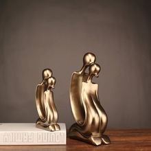 2018 Rushed Sale Mrzoot Nordic Fashion Golden Abstract Couple Kissing Sculpture Home Supplies Jewelry Statue Crafts Accessories
