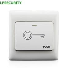 Lpsecurity 5 шт. в упаковке Дверь выхода переключатель открытым релиз кнопочный переключатель для дверного замка Система контроля доступа