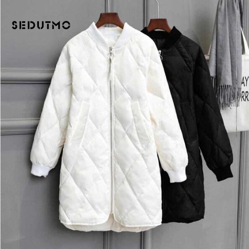 SEDUTMO Winter Long Womens Down Jackets Ultra Light Duck Down Coat Oversize White Puffer Jacket Slim Autumn  Parkas ED464