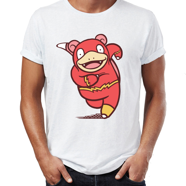 6600d76c Men's T Shirt Pokemon Slowpoke Stay Chill Flash Crossover Awesome Artwork  Young Adult Printed Tee
