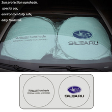 1Pc Front Rear Car Window Sun Shade Visor Covers Back for Subaru Windshield Sunshade Auto UV Protect Reflector 150Cm *70Cm