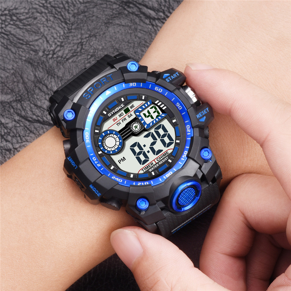Fashion New reloj Watches Boy Digital LED Quartz Alarm Date Sport Watch Waterproof Wrist Watch Clock Men Watch Women *A(China)