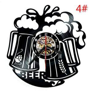 Image 5 - Home Living Whiskey Classic Wall Clock Fashion Decoration Art Clock Vinyl Record Wall Clocks