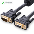 Free shipping Ugreen Projector Extension VGA to VGA Cable Gold-Plated 2m 3m High Premium VGA Black Cabo Male to Female