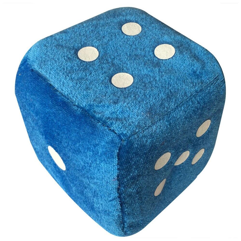 Vehemo для зеркала заднего вида многоцветные автомобильные плюшевые игральные кости, пластмассовые аксессуары Автомобильные плюшевые игральные кости красивые автомобильные подвески - Название цвета: Blue