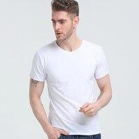 Zomer katoen mannen ronde kraag korte mouw T-shirt han editie losse pure kleur leisure T-shirt met korte mouwen