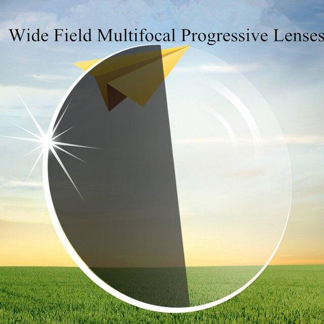 1.67 Index Photochromic Verifocal Glass Anti Reflective UV400 Multifocal Transition Progressive Lenses