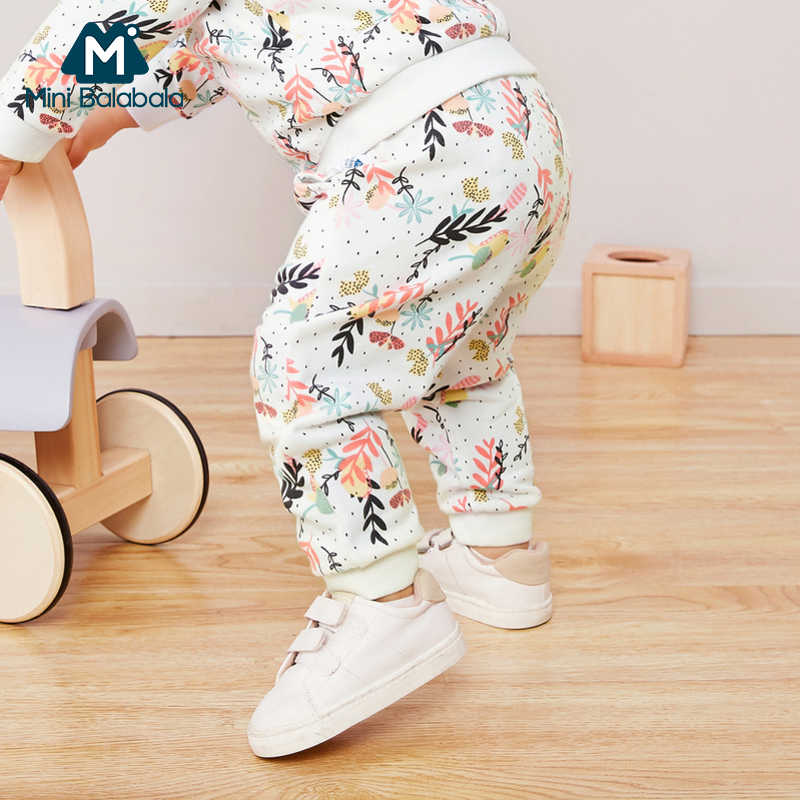 Mini balabala Children clothes baby cotton pants 2019 spring autumn clothes boys and girls baby pants child trousers