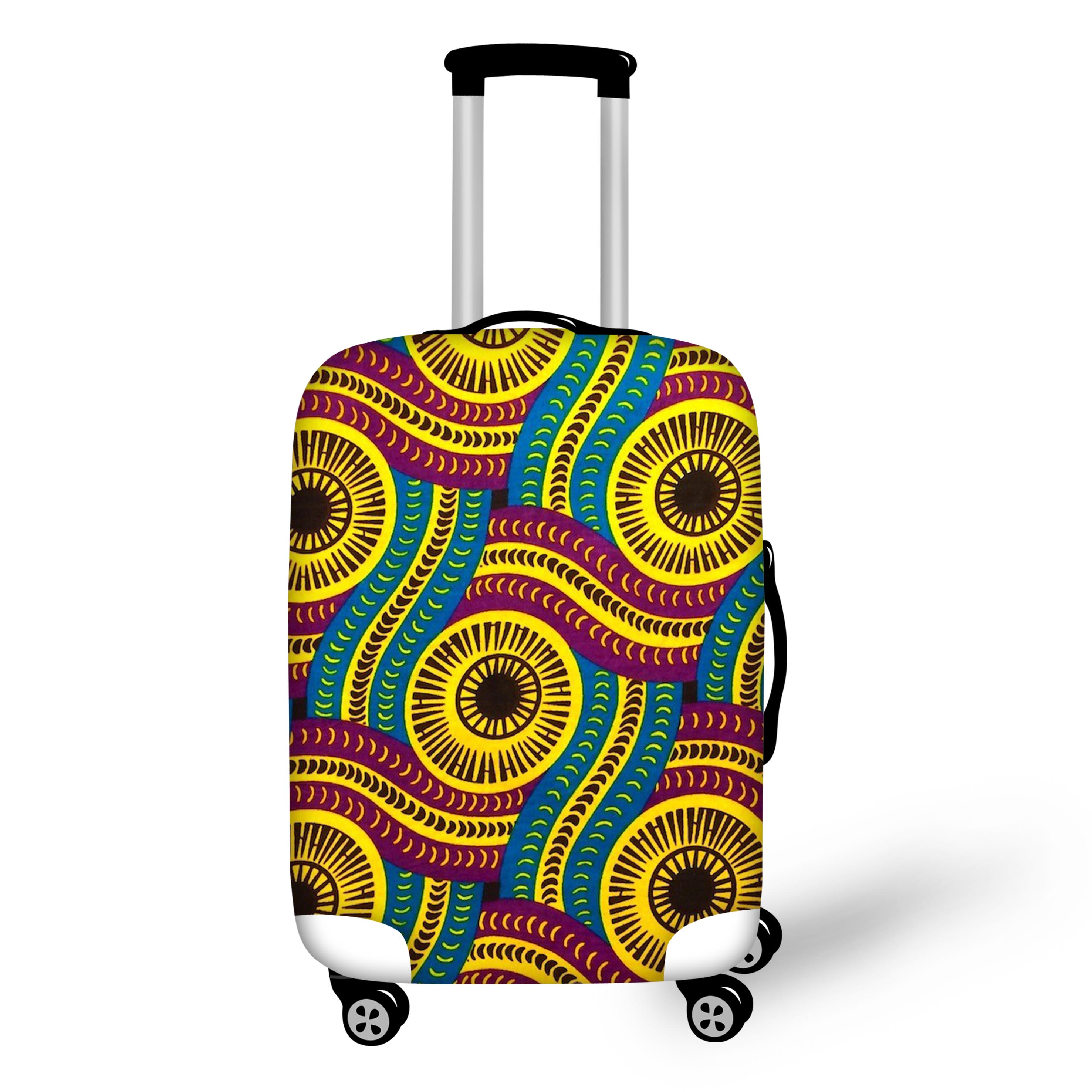 FORUDESIGNS African Printed Waterproof Elastic Luggage Protective Cover Trolley Suitcase Dust-proof Bag Case Travel Accessories