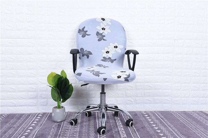 Elasticity Office Computer Chair Cover Side Arm Chair Cover Recouvre Chaise Stretch Rotating Lift Chair Cover Without Chair (38)