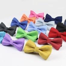 Детский модный официальный хлопковый галстук-бабочка, детский классический галстук-бабочка в горошек, цветная бабочка, Свадебная вечеринка, галстук бабочка для питомца Галстуки для смокинга