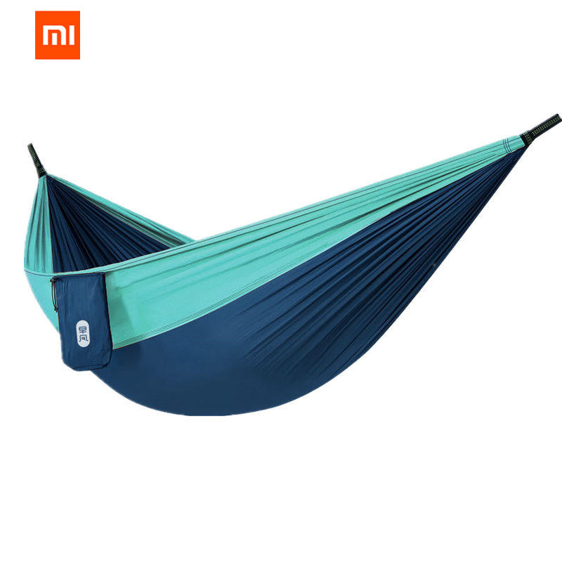 Blue 180 X 70cm Portable Outdoor Hammock Garden Sports Home Travel Camping Swing Canvas Stripe Hang Bed Hammock Red Sleeping Bags