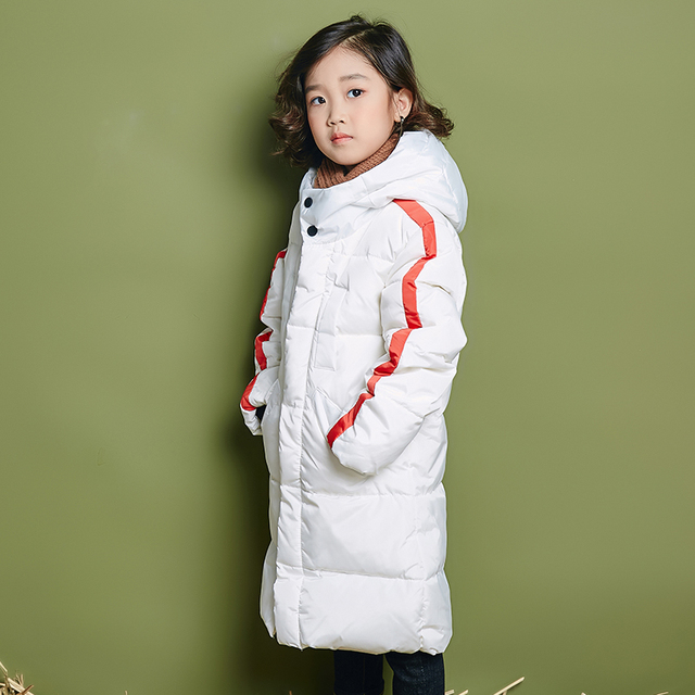Best Offers new Child Girl Jackets for Girls Children's Autumn Winter Coat Clothing Kid Hooded Thin Cotton Padded Jacket Parka Long Overcoat