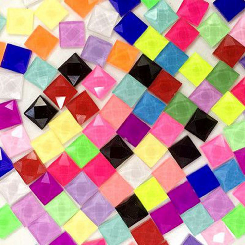 Mixed Color DIY Creative Mosaic Glass Mirror Inlay Home Decoration Crafts 100g