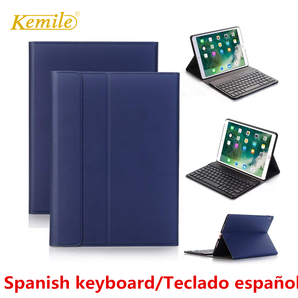 Spanish keyboard For iPad 6th 2018 9.7 Case Ultra thin Smart stand Cover For iPad Air 1/2 Pro 9.7 2017 Case Spanish Keyboard