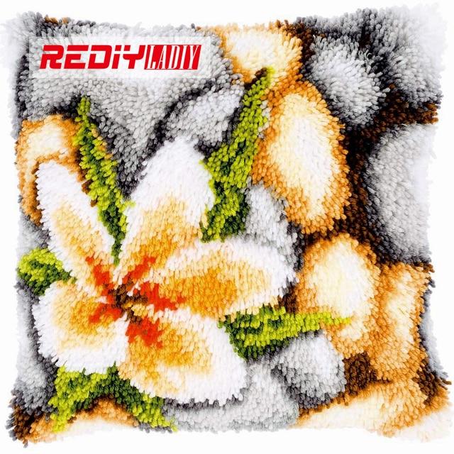 3d Crochet De Verrouillage Oreiller Kits La Orchidee Fleurs