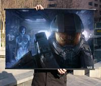 XBOX Halo 4 HD Game Movie Wall Scrolls Poster Bar Cafes Home Decor Banners Hanging