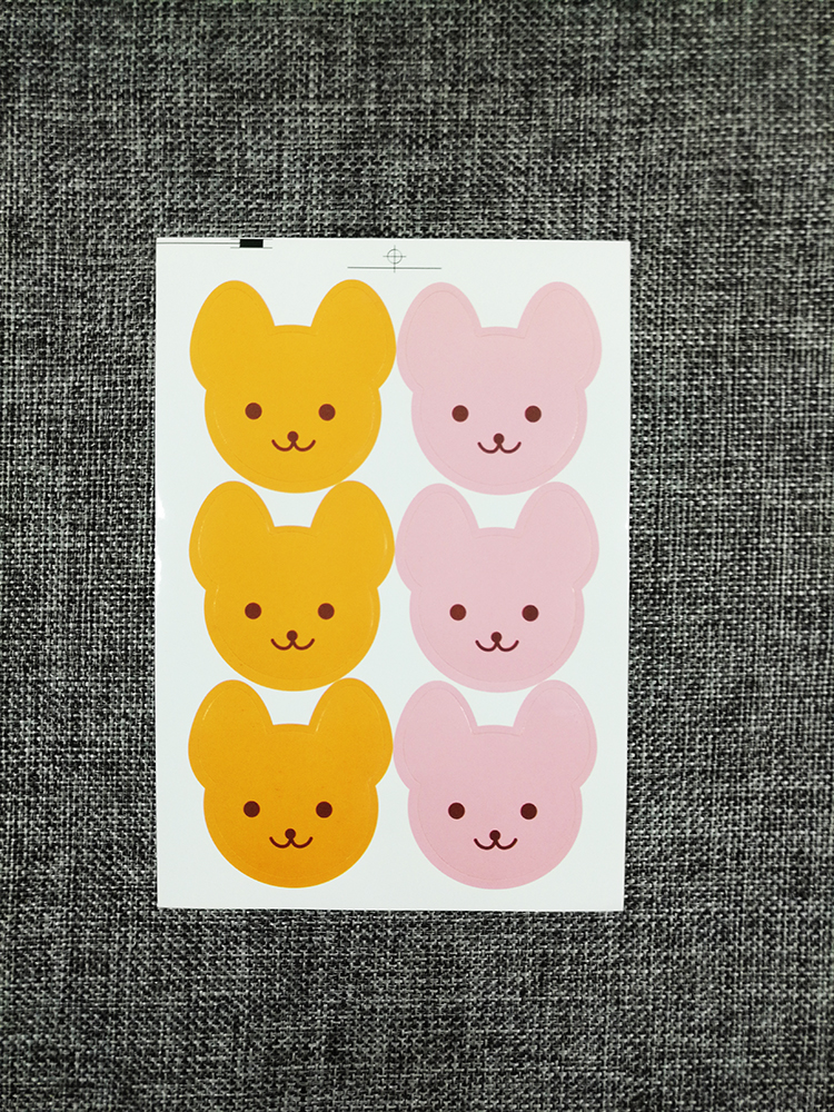 100PCS Bear pattern Hand Made Paper Gift Tags Wedding Doorplate Favour Luggage label stickers gift stickers Birthday party