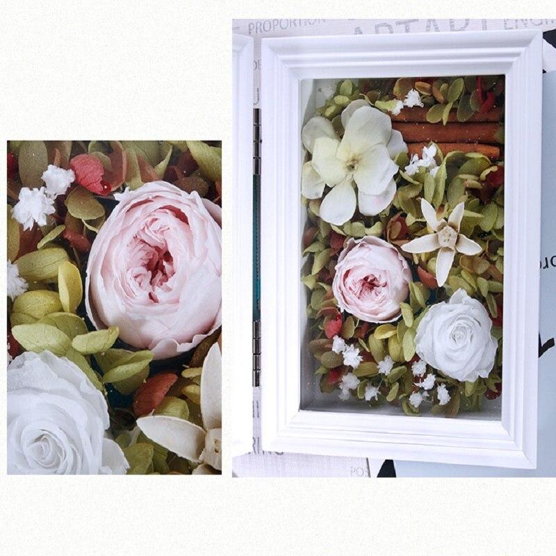 artificial rose gift box photo frame box Fresh dried flower bouquet ...