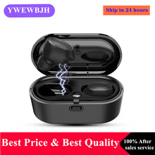 YWEWBJH TWS Bluetooth Earphones v5.0 HD Stereo Wireless Headphones Noise Cancelling Sports  Dual Microphone