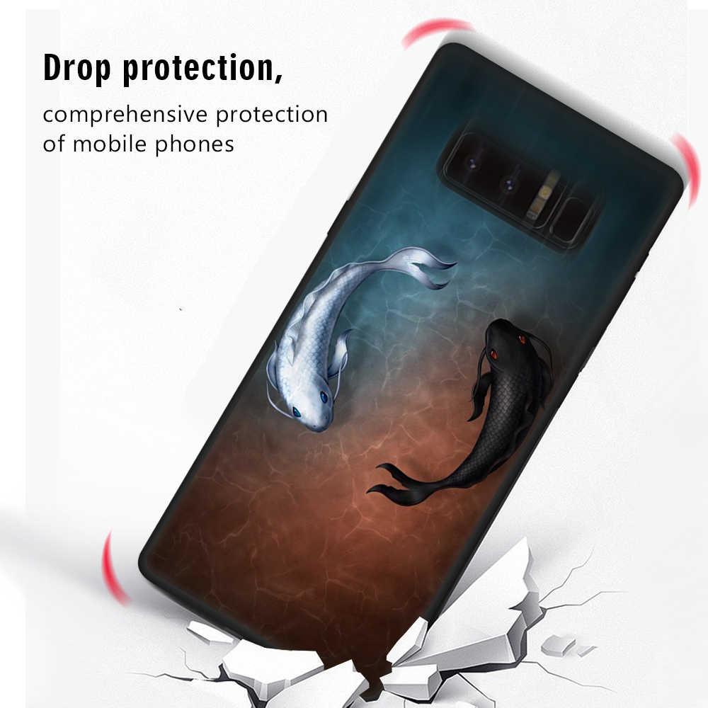 Padrão Fosco TPU Caso de Telefone Para Samsung Galaxy S9 S8 A6 A8 Plus 2018 A3 A5 A7 J7 J3 2016 j5 2017 Nota 8 9 Portective Tampa Do Caso
