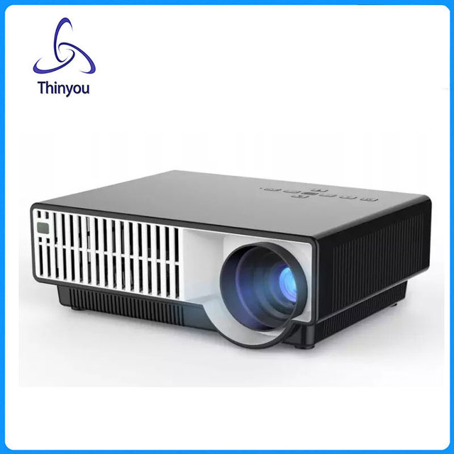 Thinyou accesorios inteligente android tv lcd led proyector full hd 1280x800 projetor proyector de vídeo de cine en casa 3d projektor beame
