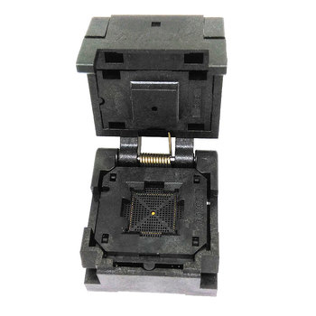 QFN68 MLF68 burn in socket IC test socket pin pitch 0.4mm Clamshell chips size 8x8mm programmer adapter
