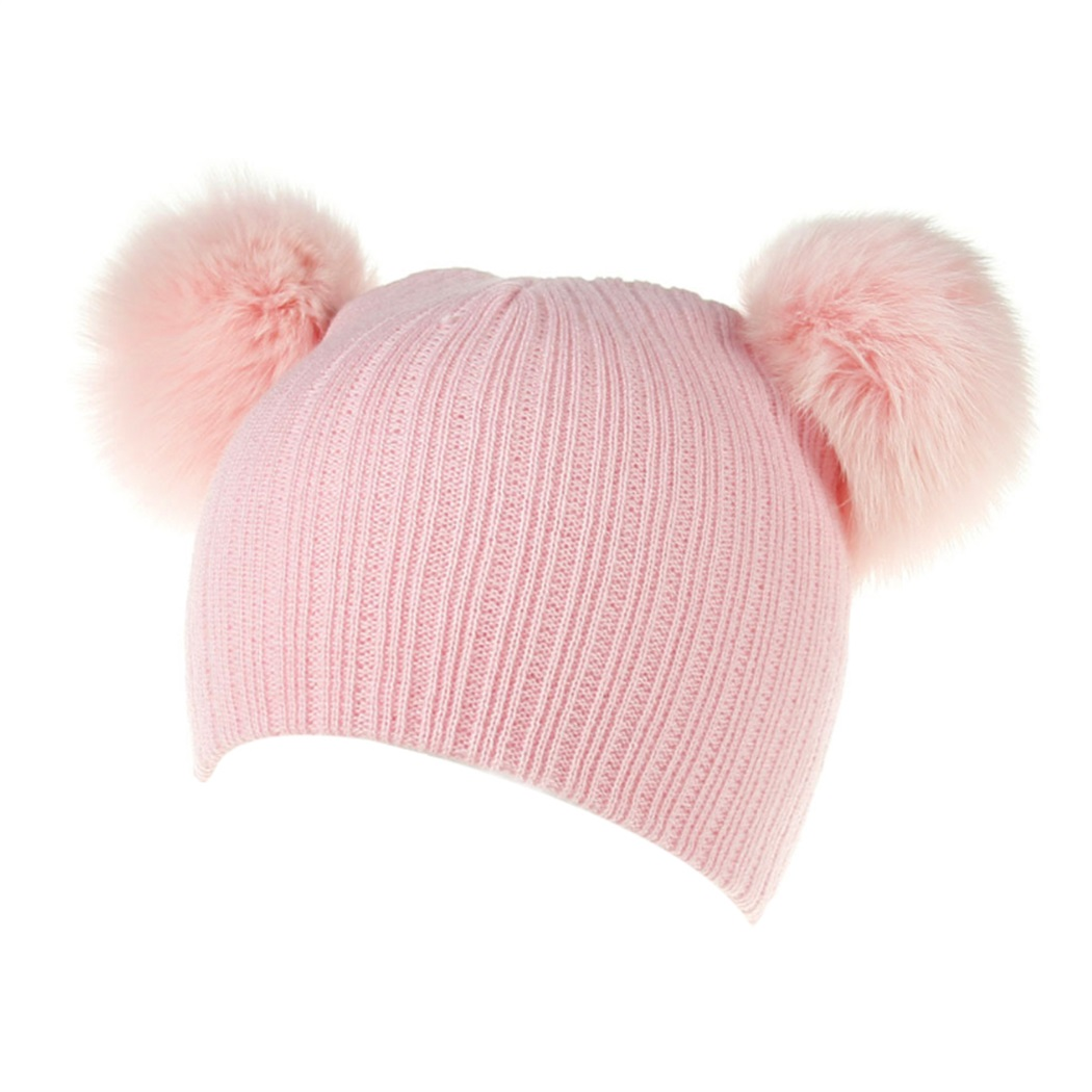 fox hair ball cap 2017 autumn and winter new children's wool knit fox hair ball cap white white ball high quality Child hat 4pcs new for ball uff bes m18mg noc80b s04g