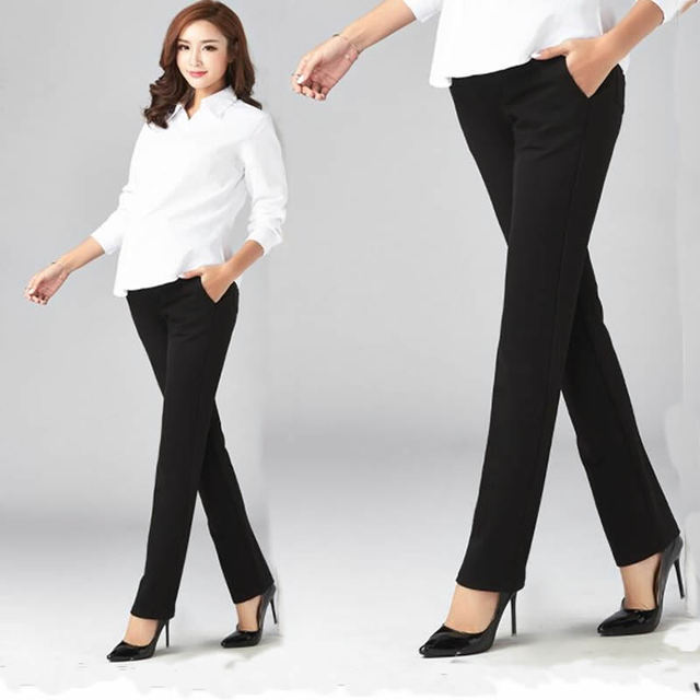 2018 Cotton Pregnant Pants Maternity Clothes For Pregnant Women Work Office Casual Trousers Pregnancy Pant Gestante Clothing