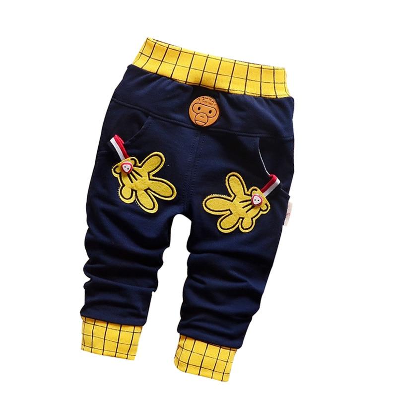 2016 lente & herfst nieuwe baby broek Pentagram en letters patroon katoen 1 stuk sport broek baby jongen / meisjes broek 0-2 jaar