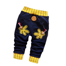 Spring & autumn new baby pants Pentagram and letters pattern cotton 1 piece sport pants baby boy / girls pants 0-2 year