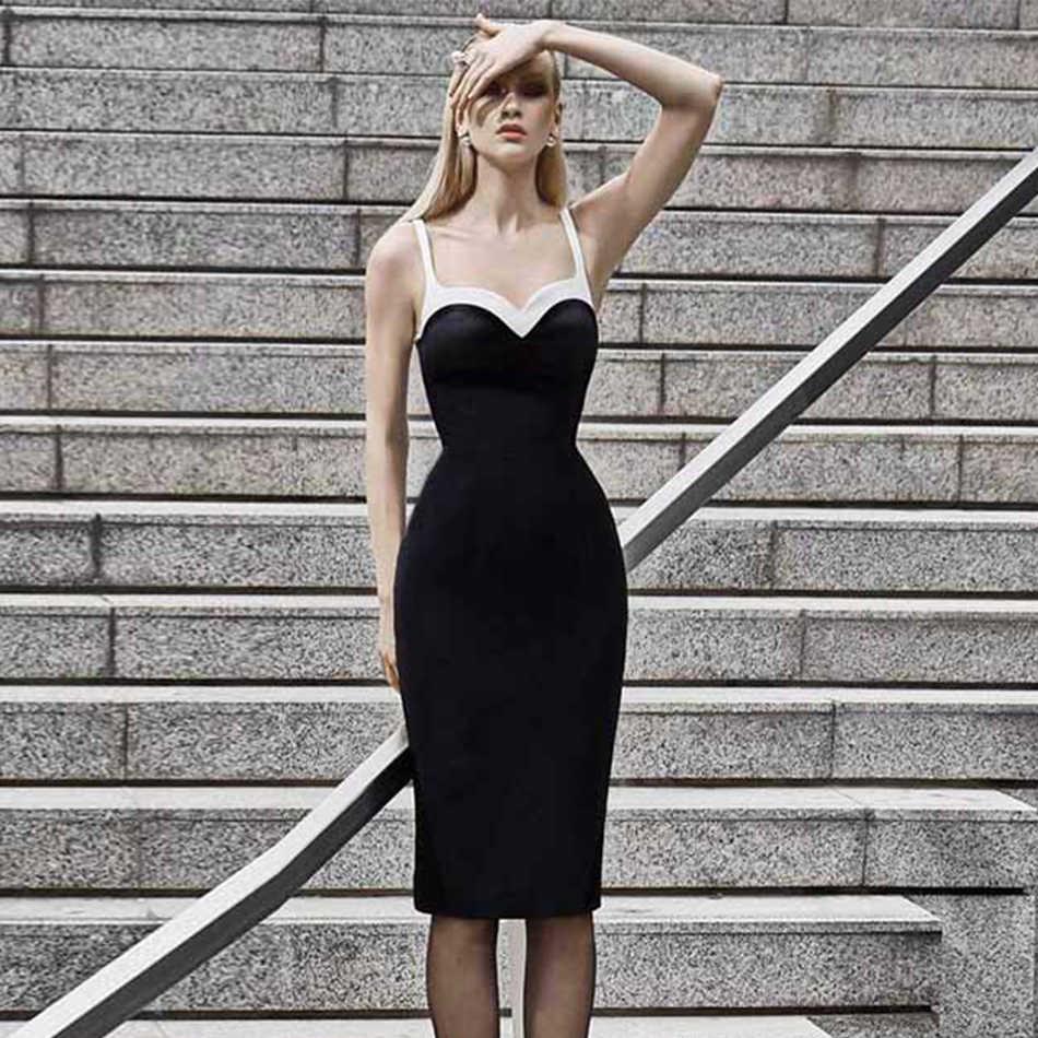 Seamyla 2019 новое черное Бандажное платье для женщин без рукавов Клубные Летние Платья Vestidos Bodycon Midi знаменитое вечернее платье
