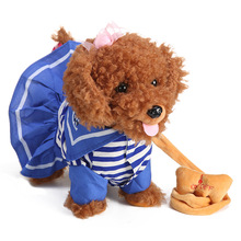 Toy Robot Dog For Kids Intelligent Control Rc Robots Animals New Year Gifts Electronic Teddy That Walks Barks blue