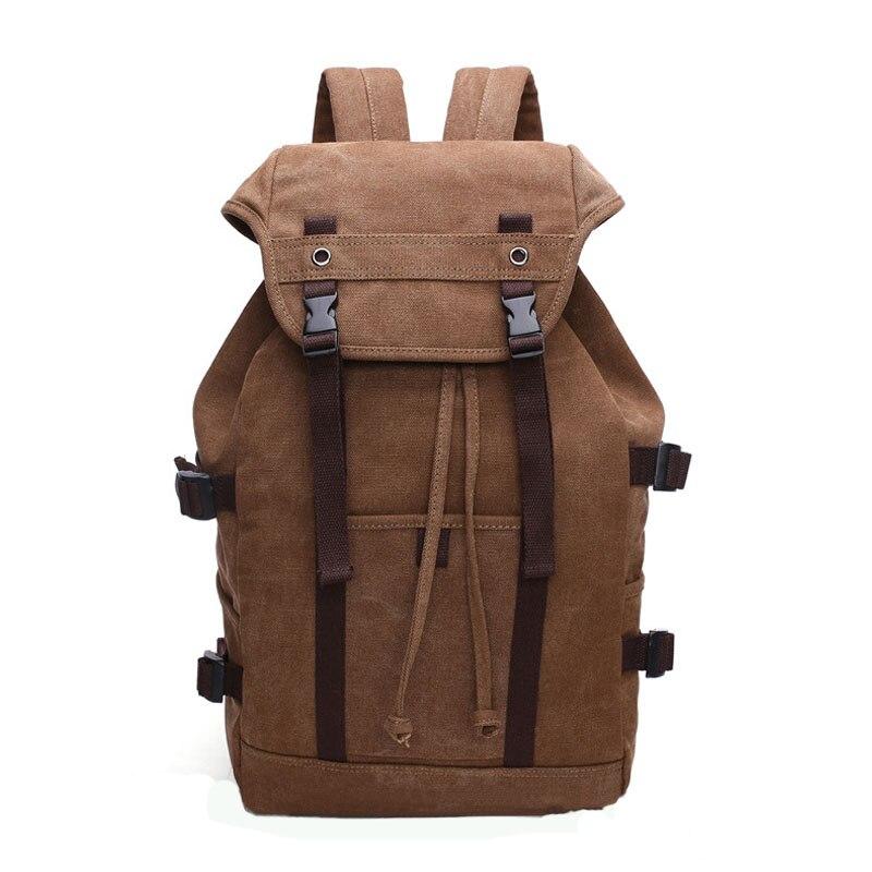 2019 nouveau mode hommes sac à dos vintage toile sac à dos sac d'école sacs de voyage pour hommes grande capacité sac à dos de voyage pour ordinateur portable sac