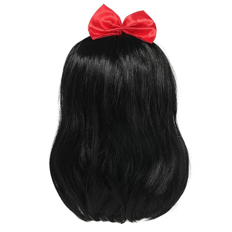YOFEEL-Peluca de Blancanieves para niña, tocado para niña, regalo de cabello Falsa para cumpleaños, suministros de Cosplay, accesorios de vestido de princesa
