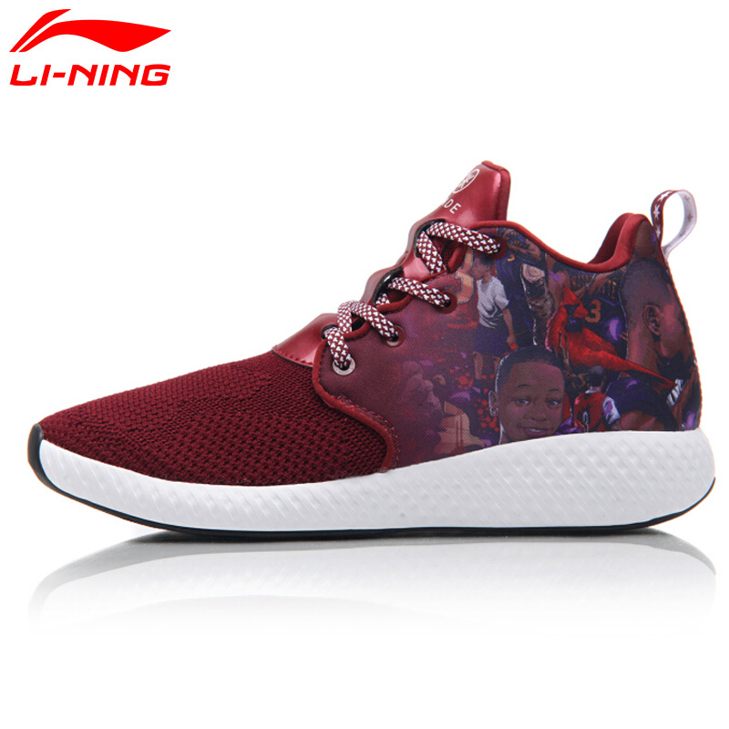Li-Ning Men's Wade DOPE CLOUD Basketball Culture Shoes LiNing Mono Yarn Breathable Wearable Sneakers Sports Shoes ABCM039 XYL111 li ning original men sonic v turner player edition basketball shoes li ning cloud cushion sneakers tpu sports shoes abam099
