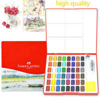 High Quality 24/36/48 Colors Solid Watercolor Paint Professional Pigment With Paintbrush for Painting Artist Art Supplies
