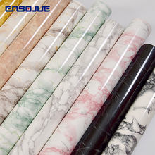 0.4x3M Marble Pattern Stickers Refrigerator Wall Sticker TV Background Wallpaper Self Adhesive Furniture Diy Decorative Film
