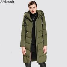 Arbitmatch модные Теплая зимняя кофта женщины 90% белый парка-пуховик с утиным пухом женский большой карман пальто Брендовые женские длинные Стиль верхняя одежда