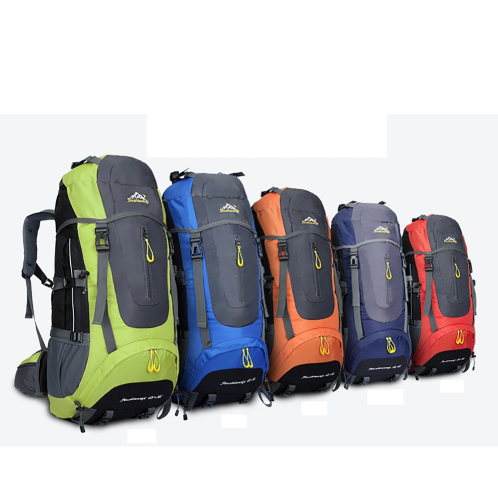65L+5L Waterproof large capacity outdoor Polyester bag Outdoor Camping Travel Bags Pack Climbing Backpack Knapsack l