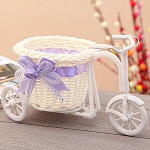 Bike Design Flower Basket Pot Vase Plant Stand Holder Home Decoration Flower Basket(China)