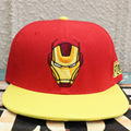 2017 Iron Man hip pop hat anime red black cap COTTON girls boy baseball hat CA272